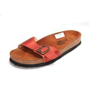 NWOB NAOT sandals slides single buckle orange 37 6